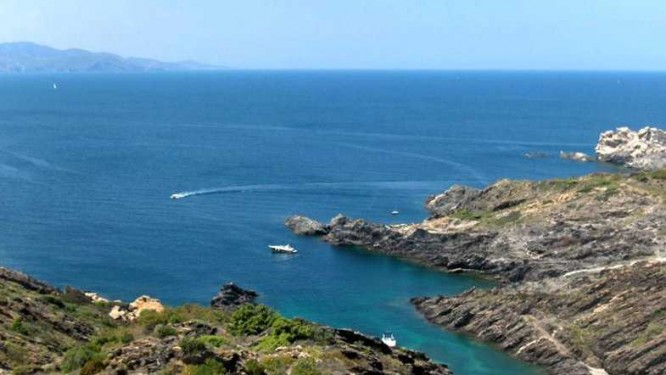 Vue plongeante sur la Côte Vermeille