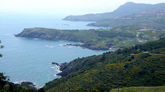 Vue sur la côte espagnole