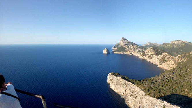 Cap Formentor. On imagine Minorque à l'horizon ...