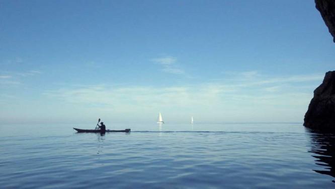 Poor lonesome kayaker
