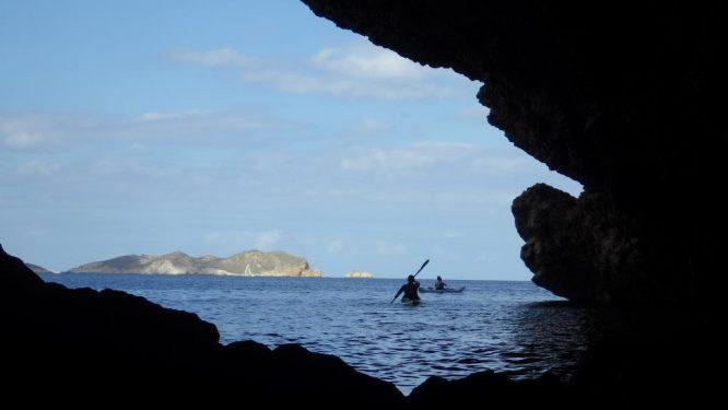 Vue depuis une grotte