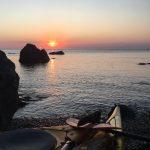 coucher de soleil sur la Côte Vermeille