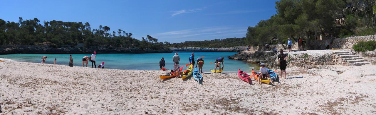Départ d'une plage de Majorque